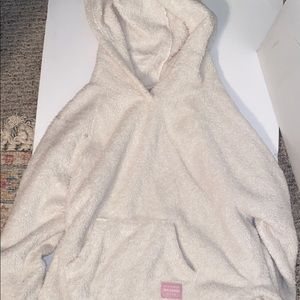 abercrombie soft white hoodie! size 14